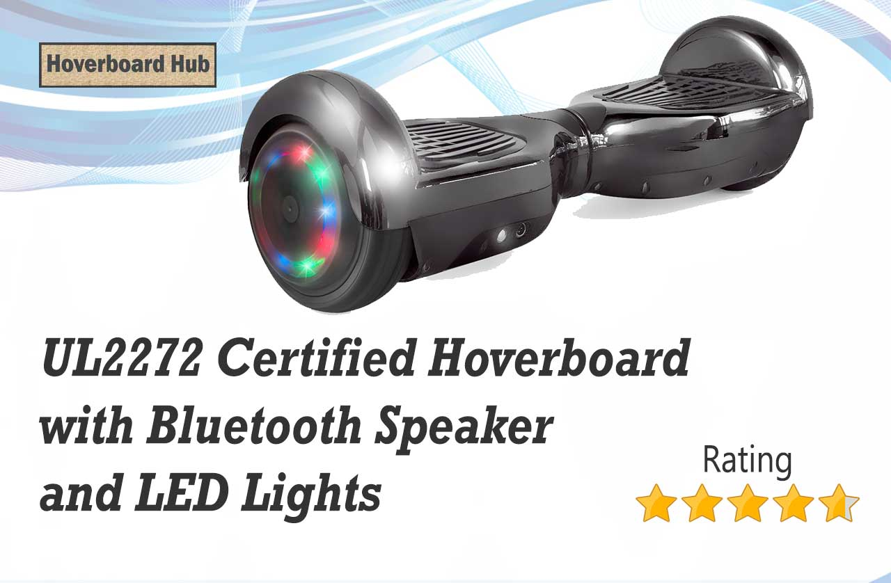 UL2272 Certified Hoverboard with Bluetooth Speaker and LED Lights