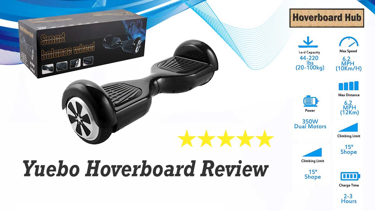 Yuebo Hoverboard Image with Rating Stars
